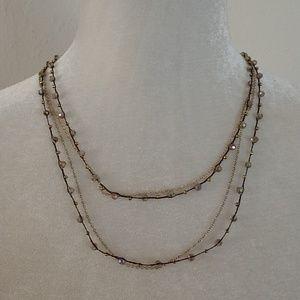 Nakamol Delicate Iridescent Boho Long Necklace